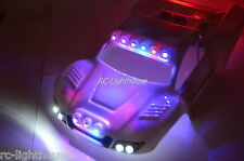 Traxxas Slash 4x4 2WD RC10 Deluxe Police LED Light Package Cop #36 LED light set