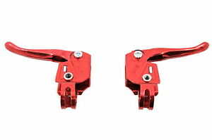 RED RALEIGH BURNER OLD SCHOOL BMX MX TYPE BRAKE LEVERS GENUINE NEW OLD STOCK
