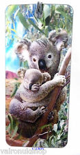 KOALA AND CUB DESIGN 3D HOLOGRAPHIC BOOKMARK WITH SILK TASSEL
