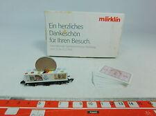 AU597-0,5# Märklin mini-club Z/DC Vagone per container Spielwarenmesse 1998, s.g