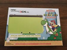 *Top IPS Display* Nintendo 3DS XL Special Edition Lime Green Super Mario World