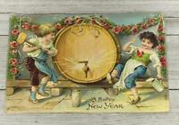 VINTAGE HOLIDAY HAPPY NEW YEARS GREETING EMBOSSED POST CARD POSTCARD