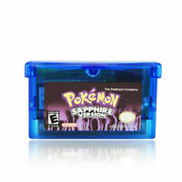 Nintendo Pokemon Sapphire Version Gameboy Advance Reproduction Game Cartridge US