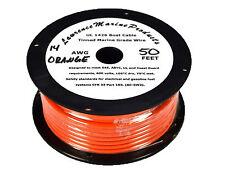 14 Gauge Tinned Marine Primary Wire / Orange / 50 Foot Reel