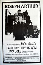 JOSEPH ARTHUR/EVE SELIS 2000 SAN DIEGO CONCERT TOUR POSTER-Alternative/Folk Rock