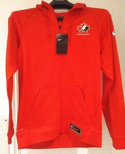 2018 WJC IIHF Team Canada Hockey Red Thermal Full Zip Hoodie Sweatshirt XXXL