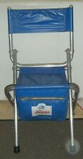 Vintage Hamm's Beer Folding Chair Seat With 6-Pack Cooler & Back Rest