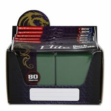 1 Box 480 BCW Elite Deck Guard MATTE GREEN MTG Pokemon Gaming Card Sleeves