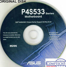 ASUS GENUINE VINTAGE ORIGINAL DISK FOR P4S533 ser Motherboard Drivers Disk  M296
