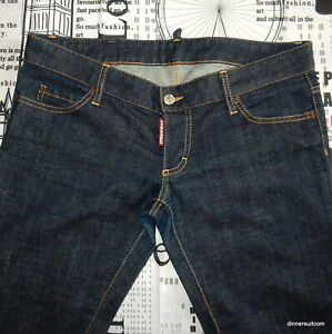 womens IT44 (UK12) DSQUARED2 'Sexy Rolled Up Flare' Denim Jeans S75LA0756 SUPERB