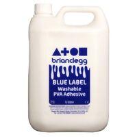 Brian Clegg Blue Label Washable PVA Glue 5 Litre