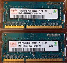 Dos x 1 GB PC3, 8500S, 1067 MHz, DDR3 Desktop SDRAM (de Apple Imac)