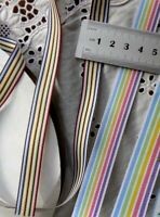 Grosgrain Striped Stitched Ribbon 9mm wide 3/&5 Metre Length 8 Colours 333 ALD11