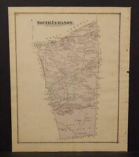 Pennsylvania Lebanon County Map North Lebanon 1875 Double Side W15#44