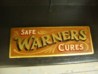 WARNERS SAFE CURE chemist pharmacy poison bottle vintage antique apothecary