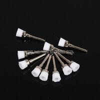100 X spazzola per profilassi dentale lucidatura spazzola di nylon bianco 001