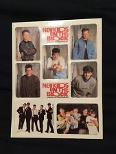 New Kids On The Block Sticker Sheet, Nkotb, 10 Sheets