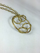 "Rafael Canada Brass ""Rings"" Pendant UNUSED & NOT SIGNED"