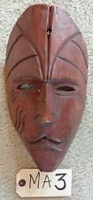 """TRIBAL WOOD CARVED MASK HEAD   WOODEN  """"MA3"""""""