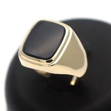Herren Ring 333 Gold mit Onyx 8 Karat Gelbgold Wert 599 Euro
