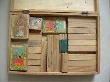 Ancien jeu de construction Je Bâtis en bois de 30,3 cm