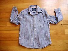 Boys designer NUKUTAVAKE cotton shirt made by MAYORAL age 8 vgc navy white check