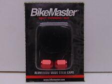 BikeMaster Aluminum Valve Caps Red