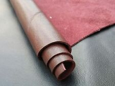 Reed Burgundy Skins: 12 X 24 Inches 2 Square Foot  Finished Cowhide Leather