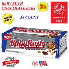 Nestle Baby Ruth Milk Chocolate Candy Bars, 1.9 Ounce Bar (Pack of 24) - On Sale