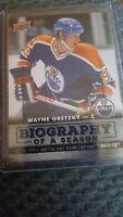 2015-16 Upper Deck Biography Of A Season Wayne Gretzky #BIOWG1 Edmonton Oilers