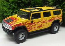 Hummer H2 Hongwell 1:43 Modellauto Cararama gelb Flamme yellow fire Flames