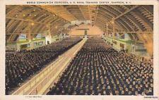 Postcard World Communion Exercises Us Naval Training Center Sampson Ny