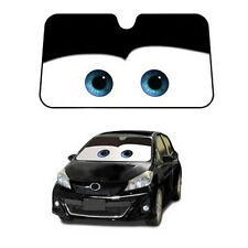 1x Car Front Windshield Sun Shade Cartoon Cute Pixar Windscreen Sun Visor Black