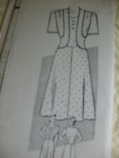 New ListingVintage Sewing Pattern Mail Order 1940's Misses' Darling Dress Bust 36 F-F