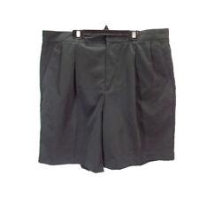 """Izod Golf Men's Pleated Microfiber 8"""" Black Golf Shorts 36W x 8"""""""