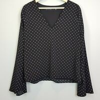 [ BACKSTAGE ] Womens Dot Print Blouse Top  |  Size L or AU 14 or US 10