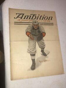 Rare Antique Ambition Magazine June 1912 Robt. Robinson Baseball Cover White Sox