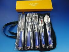 New Alain Saint-Joanis Stainless Steel Seville Blue 5 Piece Place Setting #36