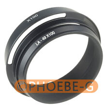 49mm Black Lens Adapter Ring + Lens Hood for Fujifilm Fuji X100 Replace LH-X100