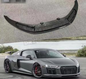 For Audi R8 V10 VRS Style Carbon Fiber Front Bumper Chin Lip Spoiler Body Kit
