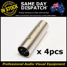 4 x Male to Male XLR Audio Microphone Mic Joiner Adapter Gender AV Connector