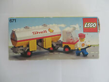 Rare Vintage Lego 70s Classic Town 671 Shell Fuel Pumper complete box & instr.