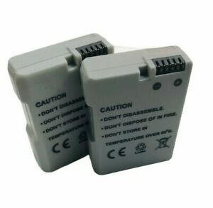 UK 2X 1100mAh EN-EL14 Battery For Nikon D3100 D3200 D3300 D5100 D5200 Camera