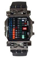 Unisex Binaer LED Uhr Digital Datumsanzeige Bunt Sport Trend Armbanduhr Geweh 2I