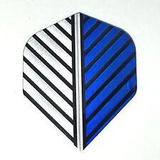 1 Set (3 Flights) Sharp Arrow Silver Blue Feather Pattern Standard Dart Flights