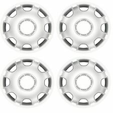 """4x Argent 15"""" Pouces Argent Deep Dish Van Enjoliveurs HUB Caps Fiat Ducato"""