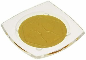 Honey House Naturals Acrylic Bee Bar Plate, 3.5 Inches, Nice Soap Dish