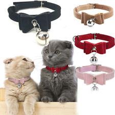 Pequeña Mascota Perro Gato Collar De Cuero Corbata De Moño Con Cuello Corbata Bell Cachorro Gatito