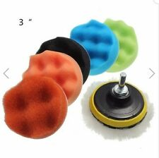 7pcs 3 Inch Sponge Polishing Waxing Buffing Pads Kit for Car polisher