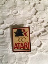 "Vintage Atari 1980 Olympics Collectible Hat Lapel Pin 1""x1"""